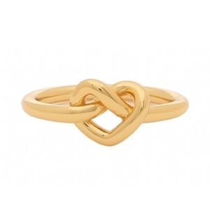 Kate Spade Gold Loves Me Knot Infinity Ring